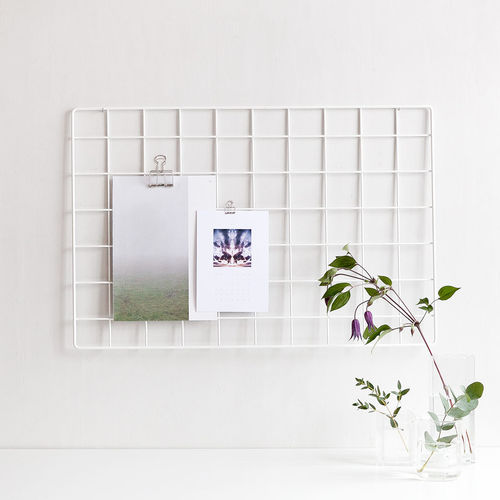 Basic white wall grid