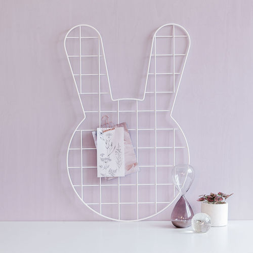 Bunny white wall grid