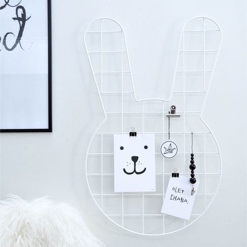 BUNNY, WHITE WALL GRID