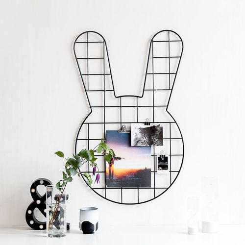 Bunny black wall grid