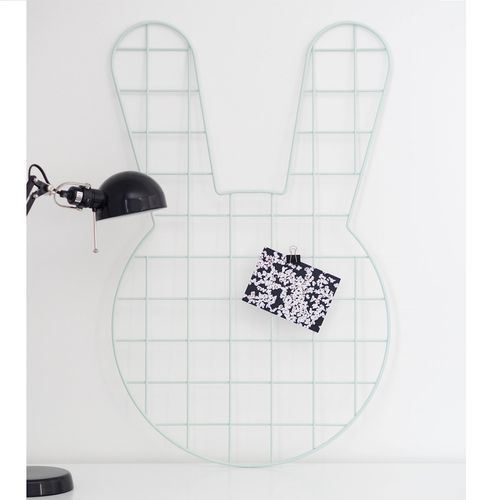 Bunny mint wall grid