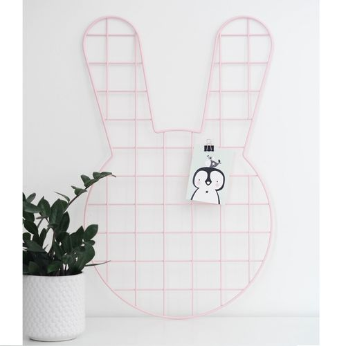 BUNNY, PINK WALL GRID