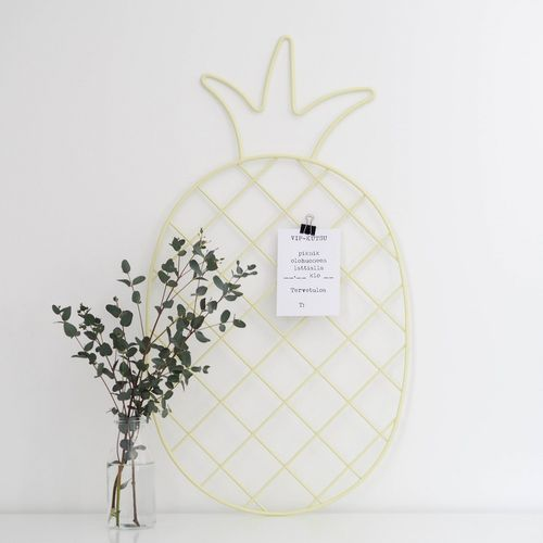Pineapple yellow wall grid