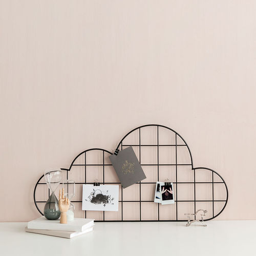 Cloud black wall grid