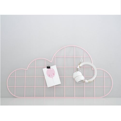 Cloud pink wall grid
