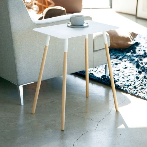 Yamazaki Plain White Side Table