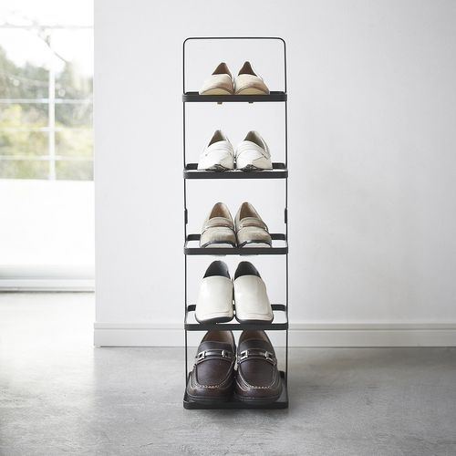 Yamazaki Tower narrow black shoe rack