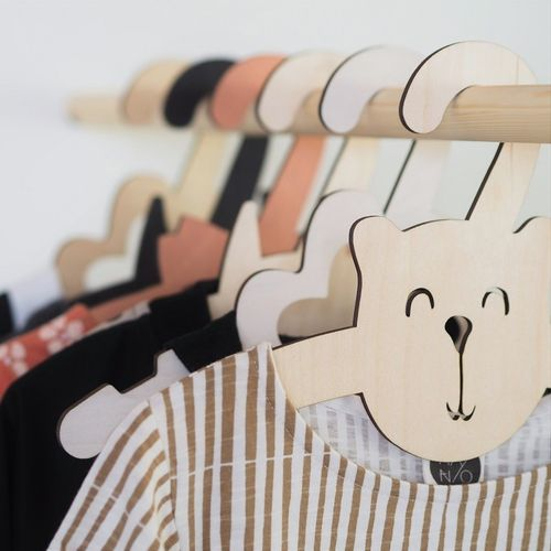 Puine teddy bear children's hanger
