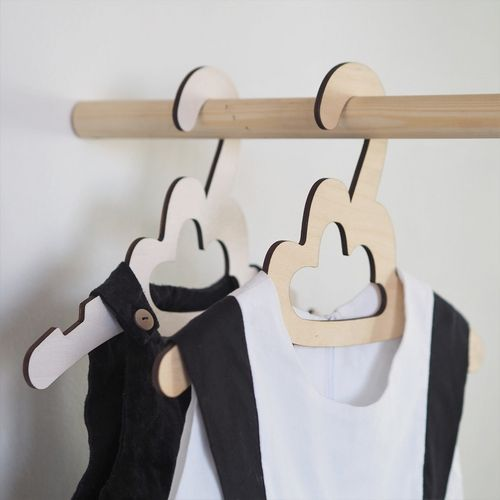 Wooden Cloud Children's Hanger